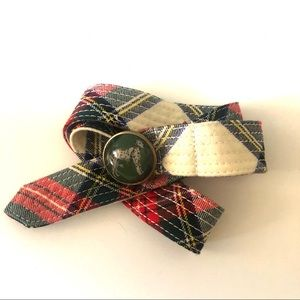 J Crew Dalmatian Tartan Plaid Wool Belt
